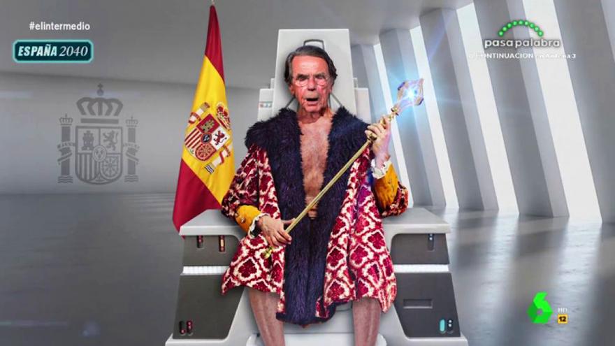 Joaquín Reyes parodia al Aznar del 'futuro' en 'El Intermedio'