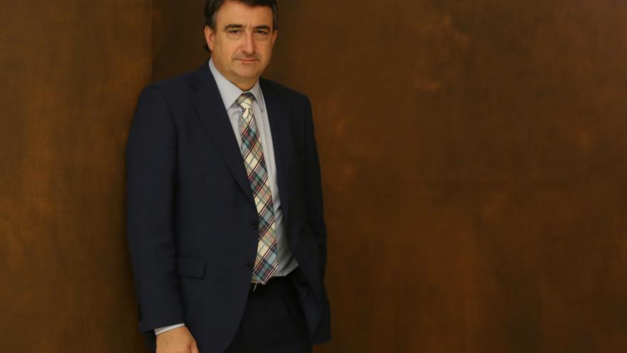 Aitor Esteban, tras la entrevista. Foto: Marta Jara