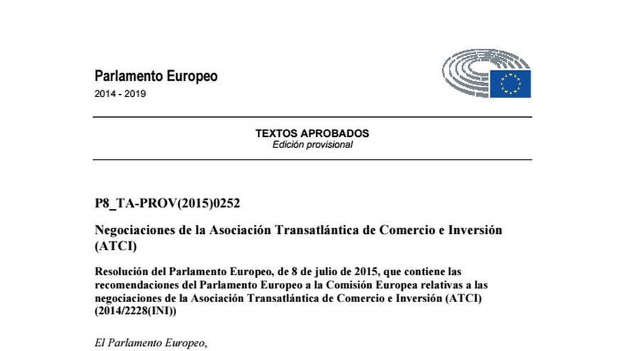 Documento PE sobre el TTIP