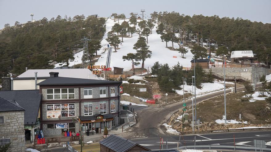 La estación de esquí de Navacerrada, en Madrid.