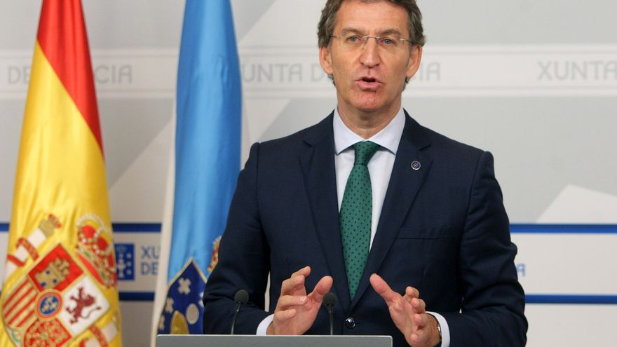 Alberto Núñez Feijóo, este jueves en Santiago