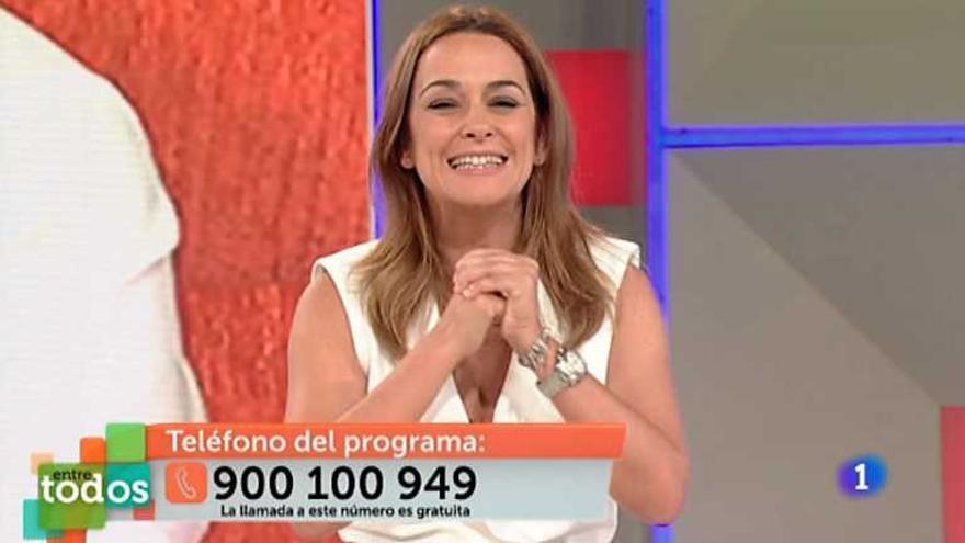 Toñi Moreno, en el programa 'Entre todos', de TVE.