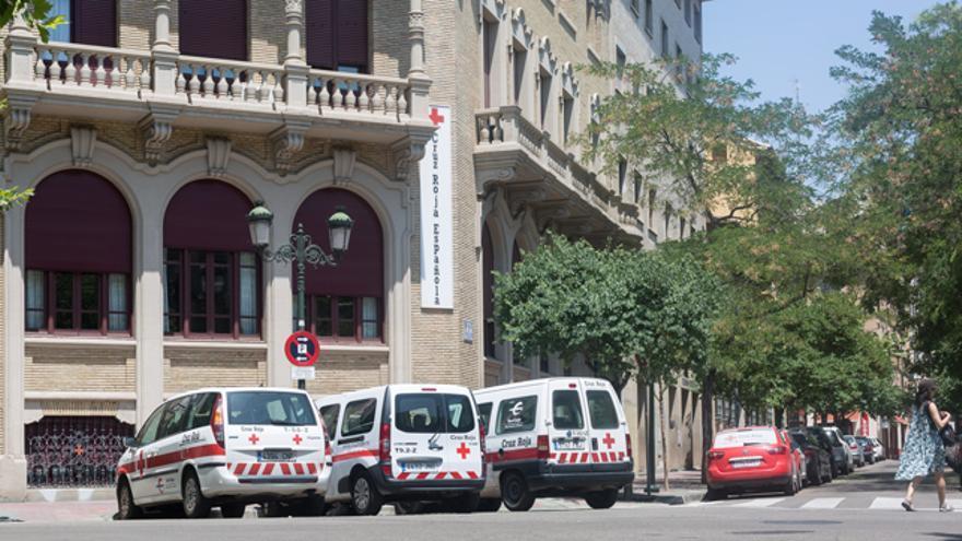 Sede de Cruz Roja en Zaragoza.
