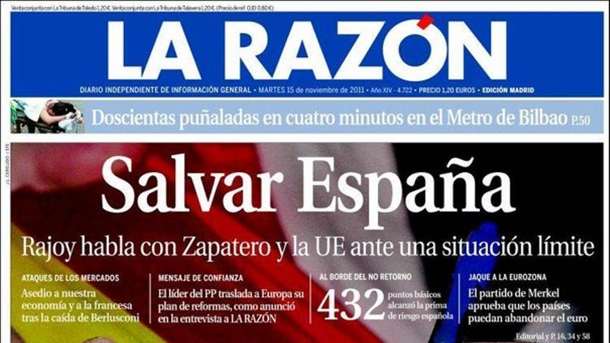 De las portadas del día (15/11/2011) #10