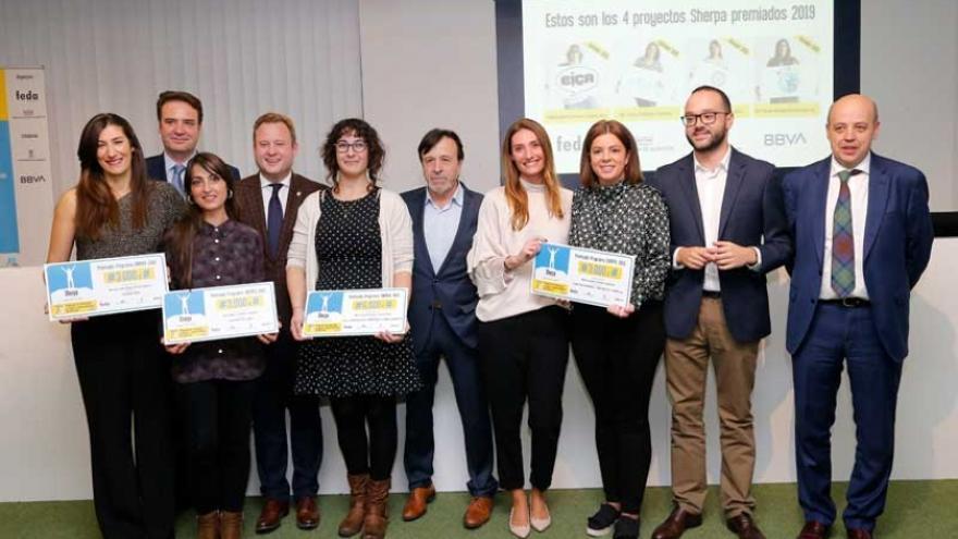 Ganadoras de la séptima edición FOTO: BBVA