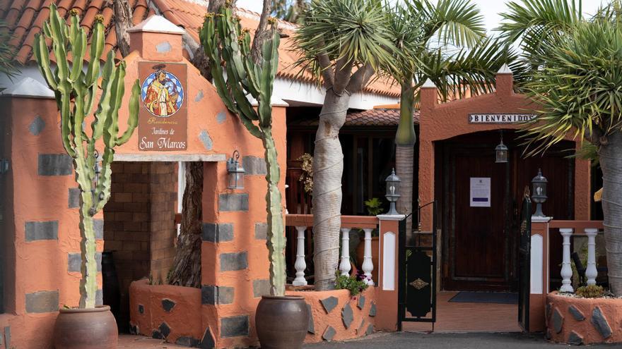 El centro de mayores de Tegueste (Tenerife) afectado por el coronavirus.