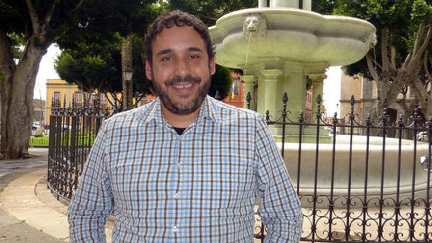 Rubens Ascanio, portavoz de Unidos Se Puede en el Ayuntamiento de La Laguna