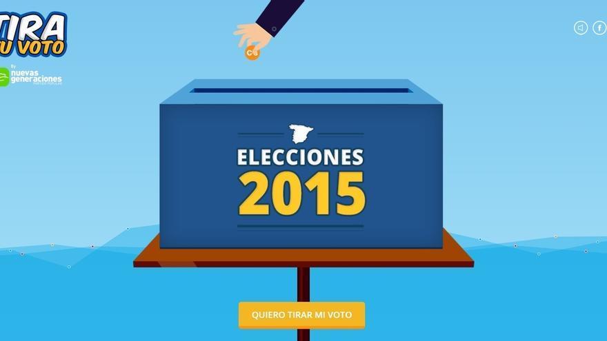 Nuevas Generaciones carga contra Ciudadanos con una campaña en la que llama a los jóvenes a no tirar el voto