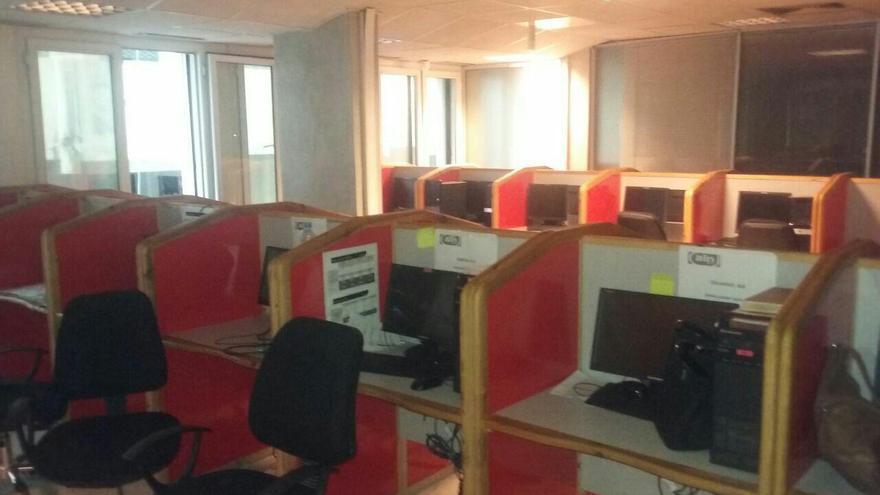 Instalaciones de ALN Telemark en Tetuán Foto del colectivo de trabajadores encerrados