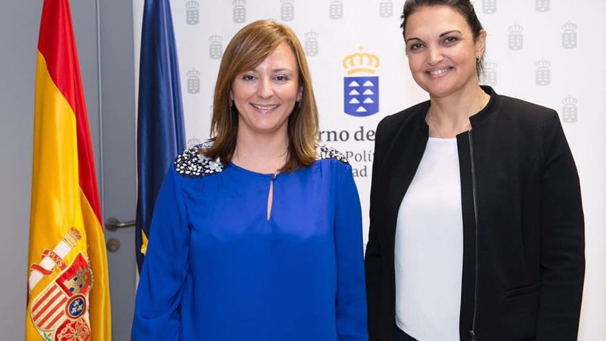 Nieves Lady Barreto y Susa Armas. Foto: Consejería de Política Territorial.