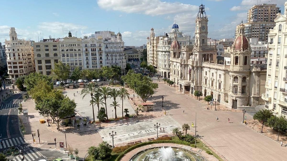 Plaza del Ayuntamiento de València.