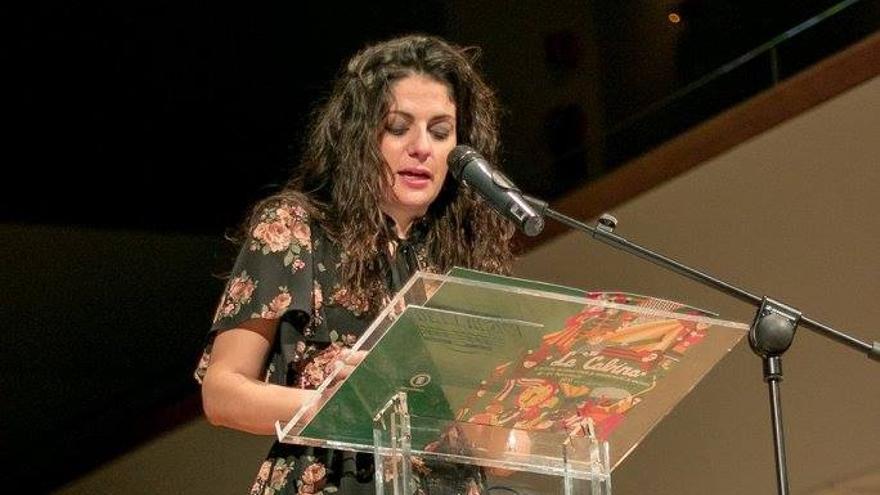 Sara Mansanet a l'inauguració de la desena edició de La Cabina. Foto: Pedro Castillo.