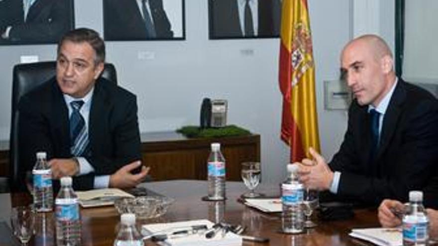 Jose luis astiazaran y luis rubiales, reunion LFP y AFE