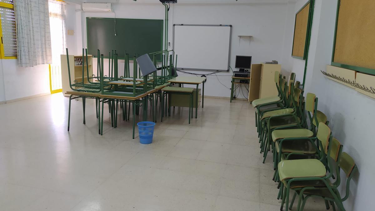 Aula de un colegio de Mazarrón