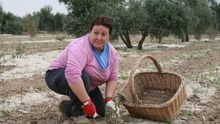 María Inés Casado, en su explotación agraria