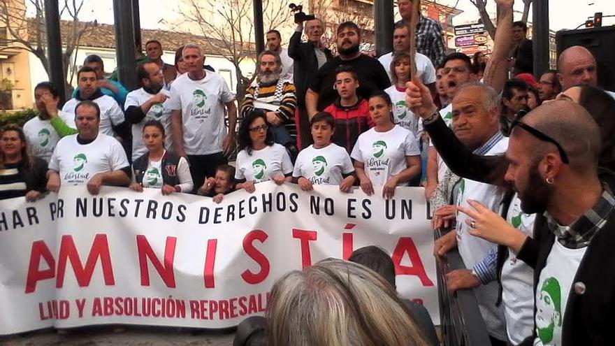 Manifestación de apoyo a Andrés Bódalo en Jódar /Foto: Ana Sola