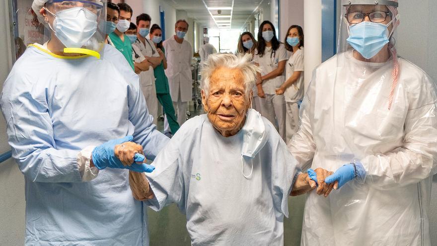 Asunción, 105 años, acaba de superar el coronavirus en Guadalajara