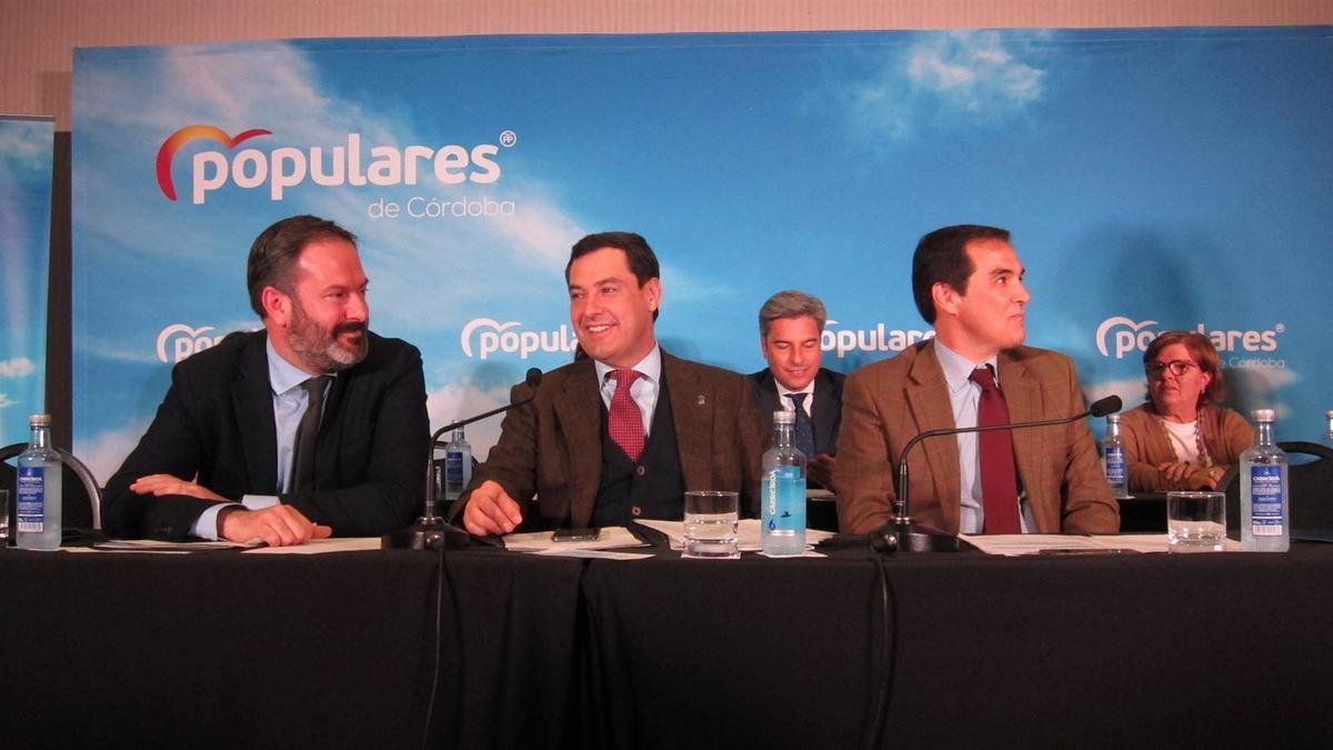 Juanma Moreno en la Junta Directiva Provincial del PP de Córdoba, en una imagen de archivo.