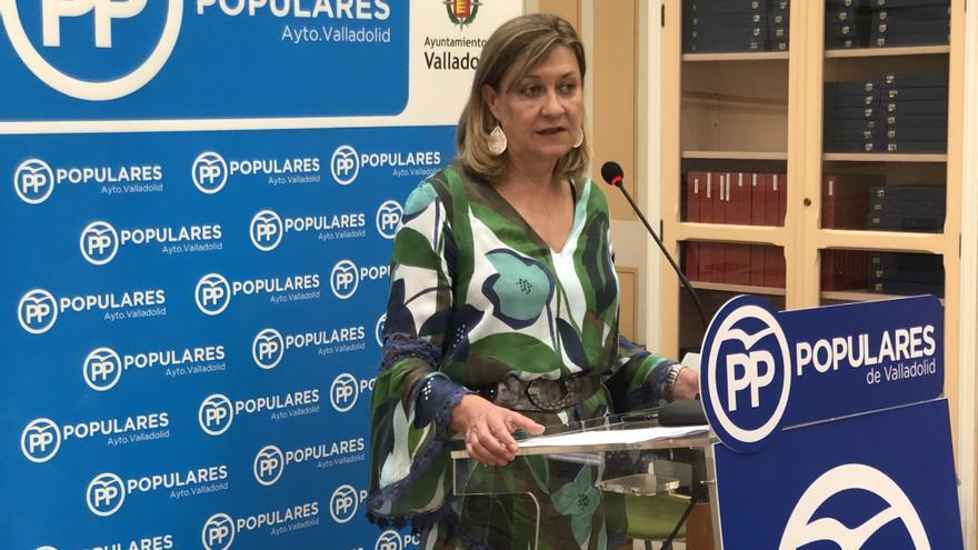 Pilar del Olmo durante la rueda de prensa.