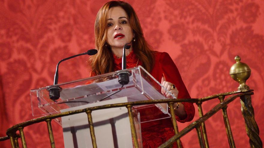 La presidenta de las Cortes de Castilla y León, Silvia Clemente,durante el acto de homenaje a los 476 procuradores de la historia de la Comunidad