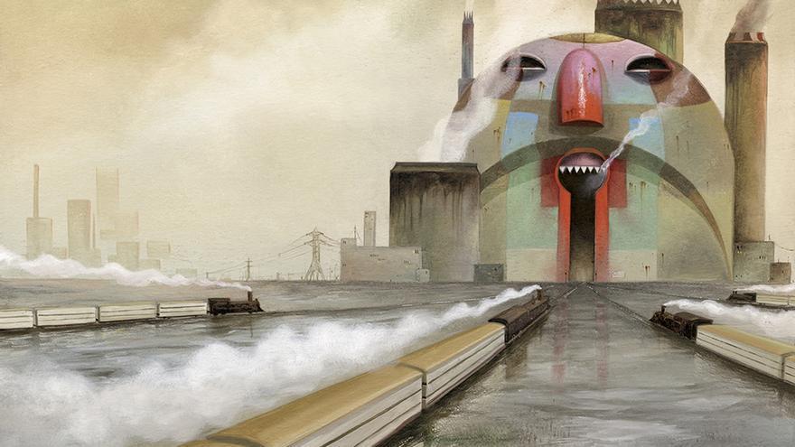 Ilustración de Roger Olmos incluida en el libro SINPALABRAS, publicado por Faada y Logos edizioni