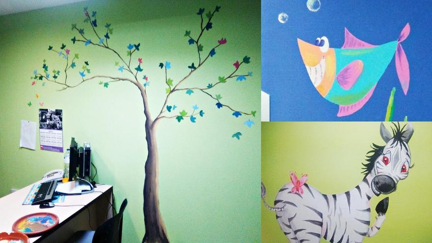 Algunos de los dibujos del área de Pediatría del Hospital de La Palma.