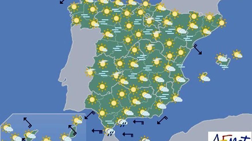Hoy cielo despejado salvo nieblas persistentes en la cuenca del Ebro