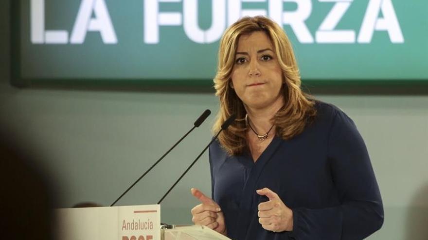 """Susana Díaz dice que el PSOE sale unido: """"Pedro tiene que ganar para ser presidente"""""""