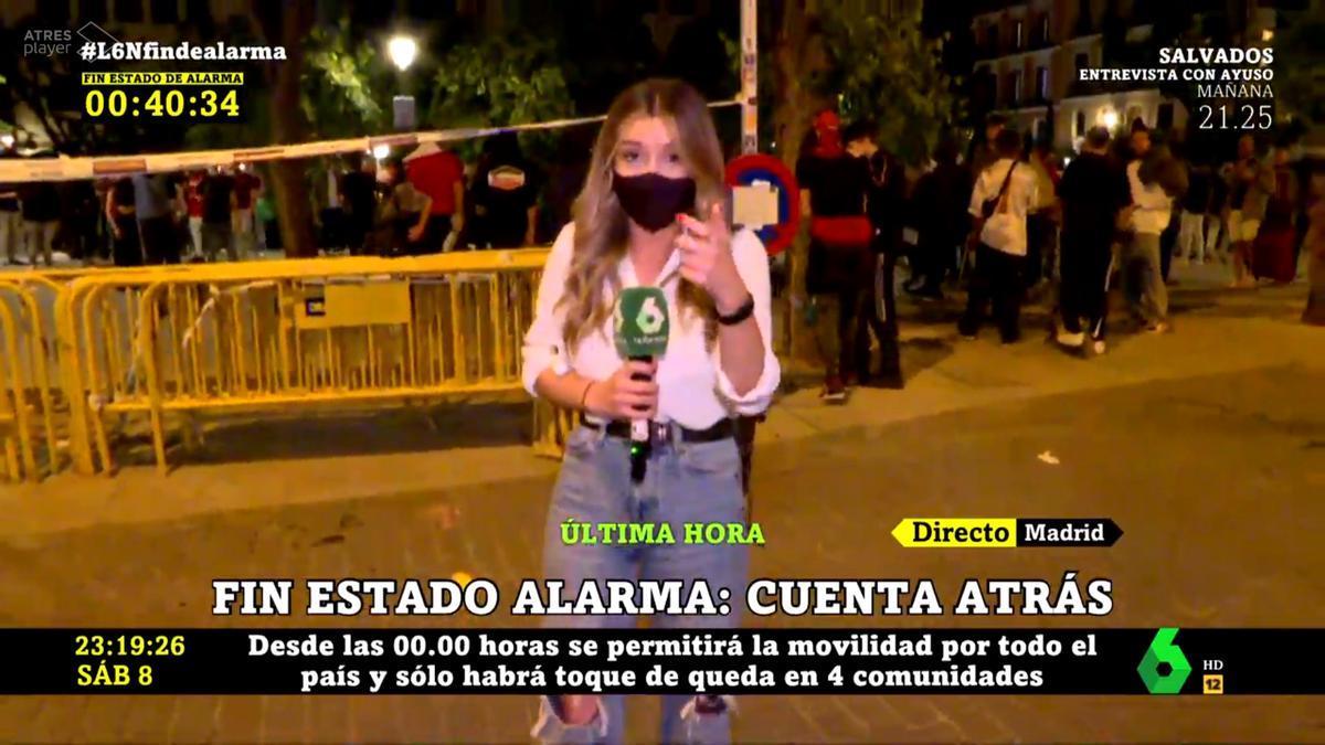 La reportera Marta Arráez, agredida en el centro de Madrid