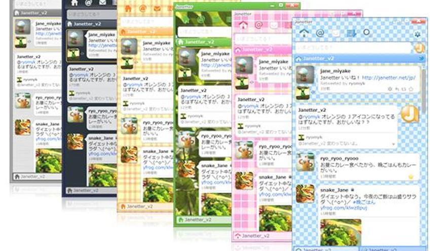 Janetter, una aplicación para gestionar perfiles de Twitter.