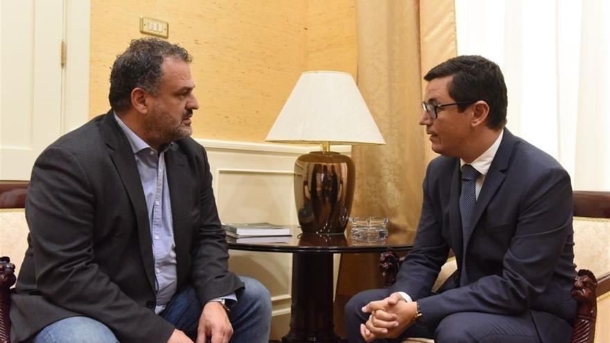 José Alberto Díaz y Pablo Rodríguez, en su reunión de este miércoles