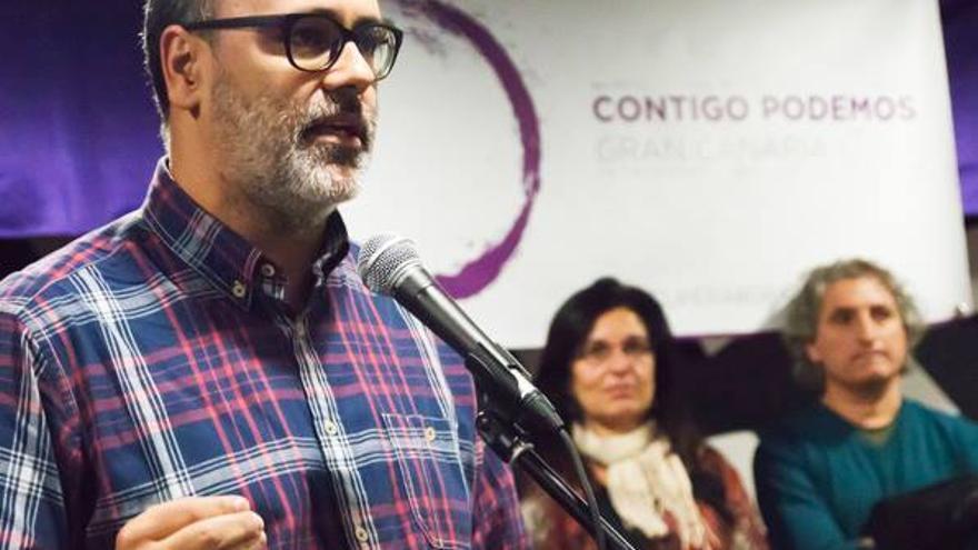 El candidato de Contigo Podemos al Consejo Ciudadano Insular de Gran Canaria, Juan Manuel Brito. (Foto: Facebook de Contigo Podemos).