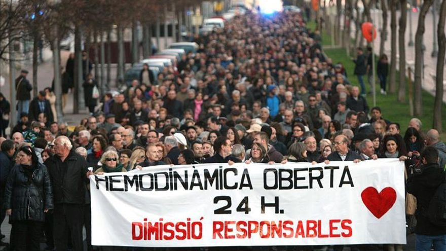 Cerca de un millar de personas reclama en Tarragona atención de 24 horas a los infartados