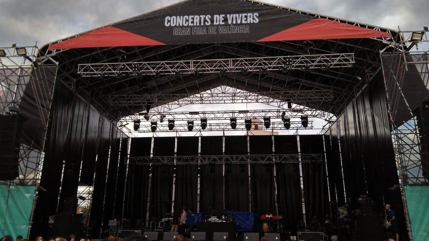 El escenario de los conciertos de Viveros