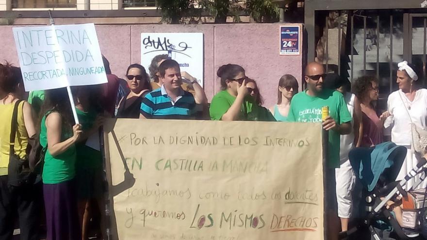 Concentración de docentes interinos en Toledo