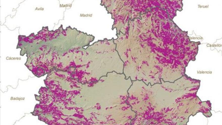 Mapa de zonas susceptibles para el aprovechamiento de la biomasa forestal