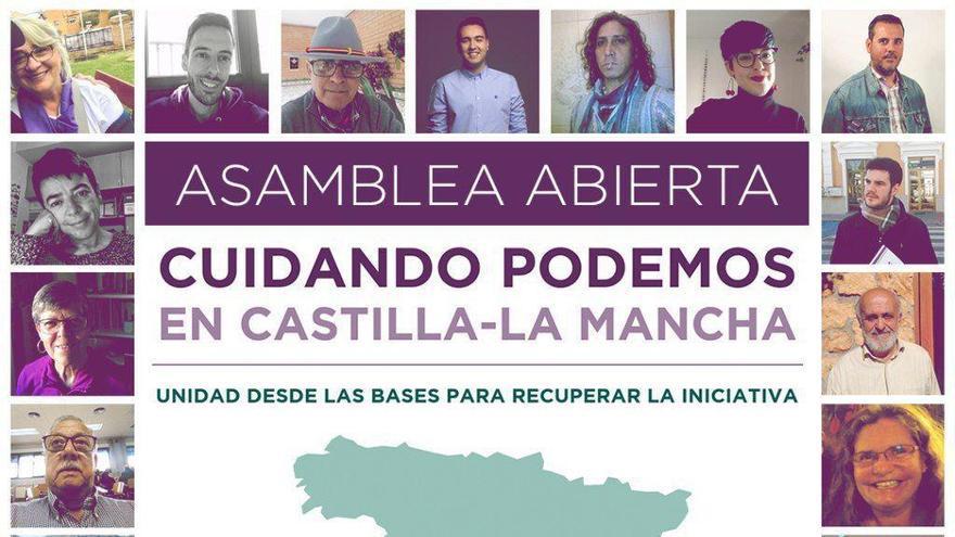 """Cuidando Podemos, movimiento para configurar una candidatura """"de unidad"""" de cara a dirigir Podemos Castilla-La Mancha"""