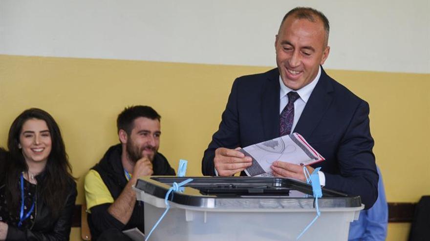 El excomandante guerrillero y líder de la coalición nacionalista kosovar, Ramush Haradinaj.