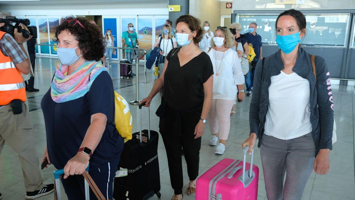 Llegada de turistas a Fuerteventura