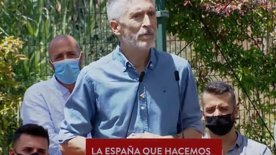 El ministro del Interior, Fernando Grande-Marlaska, interviene en una jornada sobre Nuevos Derechos y Libertades del PSOE celebrada en Torremolinos (Málaga) a 26 de junio de 2021
