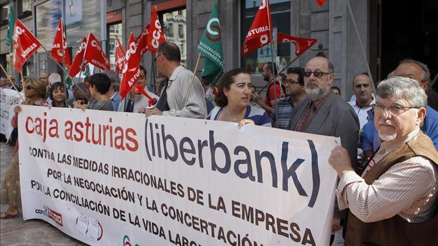 Liberbank no logra un acuerdo laboral y los sindicatos amenazan con más paros