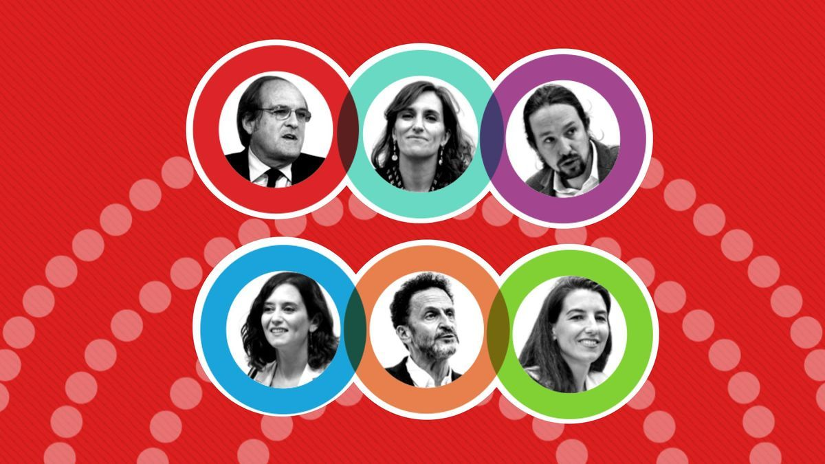 Los candidatos a la presidencia de la Comunidad de Madrid.