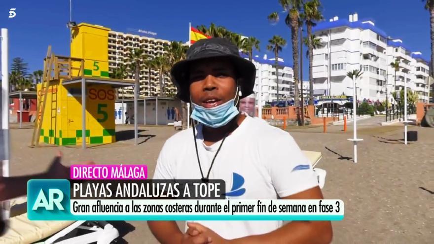 Conexión en 'El programa de Ana Rosa' con las playas malagueñas