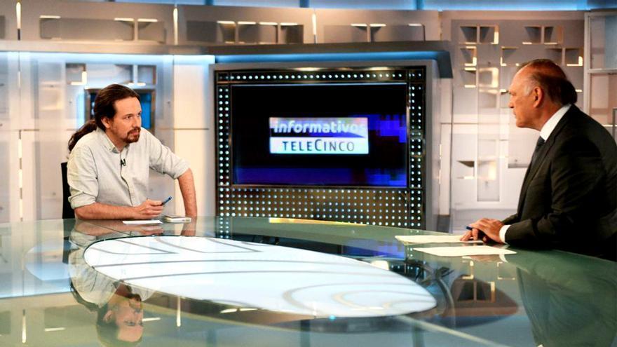 Pablo Iglesias, entrevistado por Piqueras en Telecinco