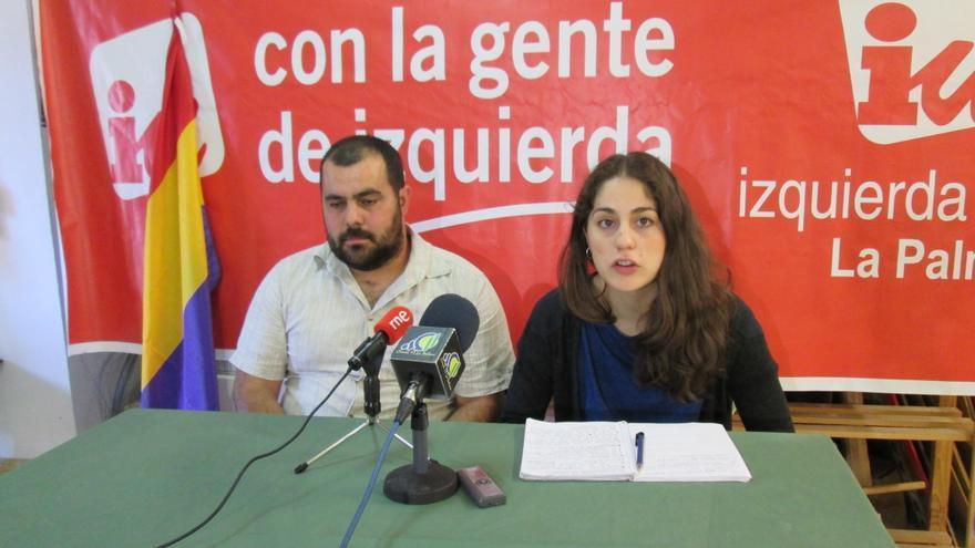 Lara Hernández y Jesús Besay Rodríguez, este martes en rueda de prensa.