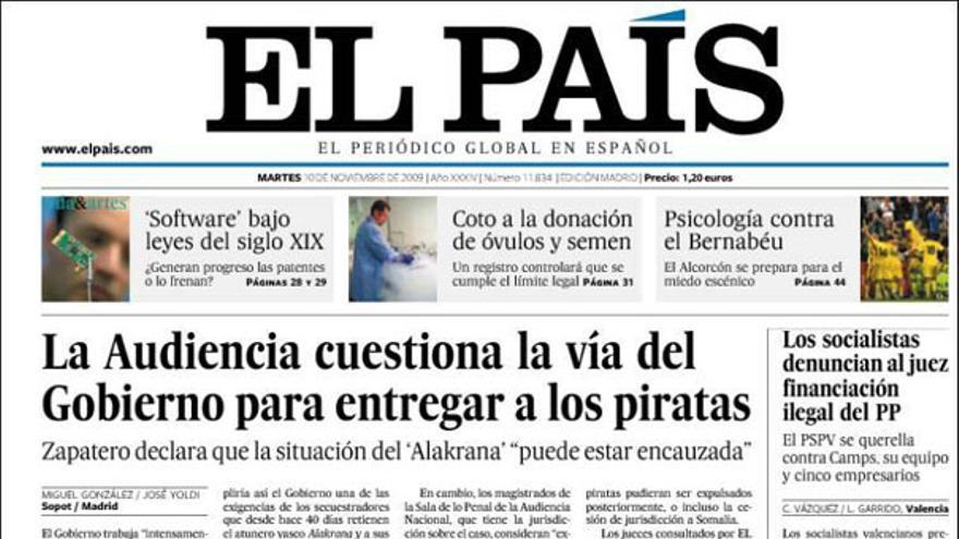 De las portadas del día (10/11/2009) #3