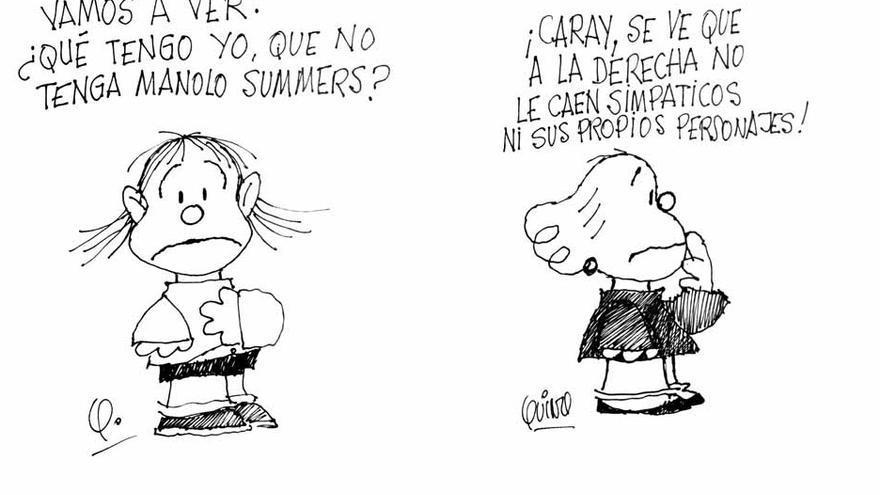 Dibujos de Quino que ilustraron la portada de El País el 10 de abril de 1985