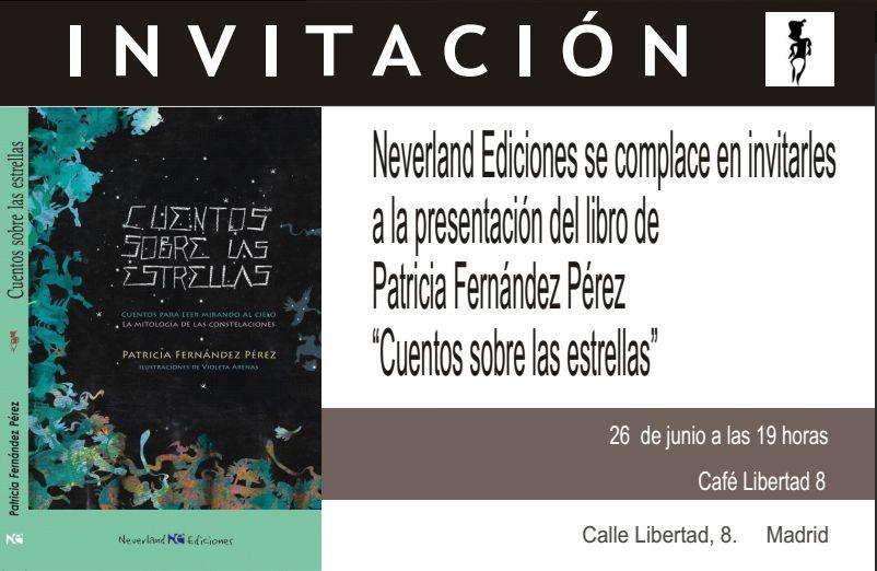 """Invitación a la presentación de """"Cuento sobre las estrellas"""" en el Café Libertad"""