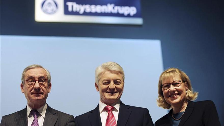 ThyssenKrupp ganó 195 millones de euros, frente a la pérdida anterior