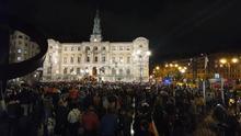Concentración ruidosa en Bilbao en contra de la sentencia del Procés
